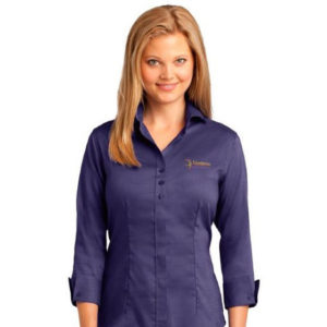 RH Ladies 3/4-Sleeve Nailhead Non-Iron Button-Down Shirt