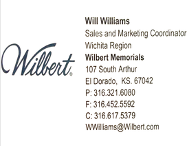 Wilbert Memorials – Will Williams